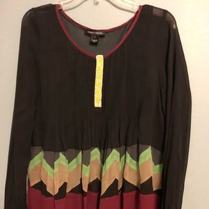 Colorful blouse, size small , chiffon loose fit.